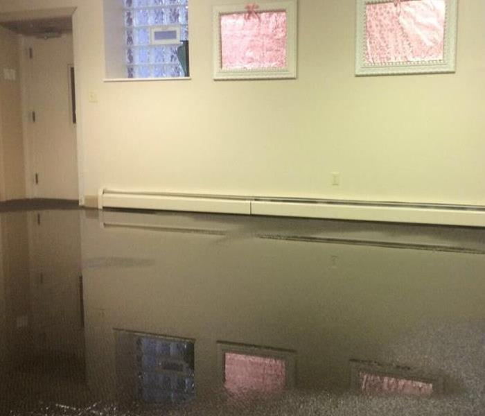 Commercial Flooding in Cleveland, OH Before